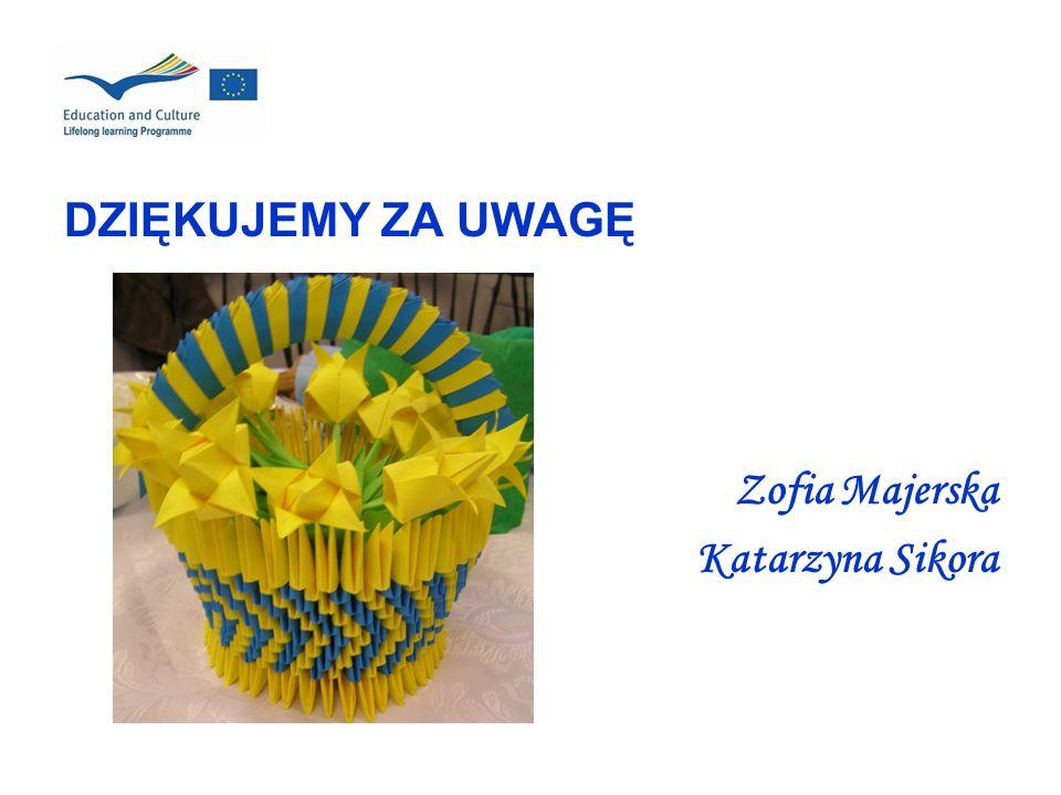 DZIĘKUJEMY ZA UWAGĘ Zofia Majerska Katarzyna Sikora