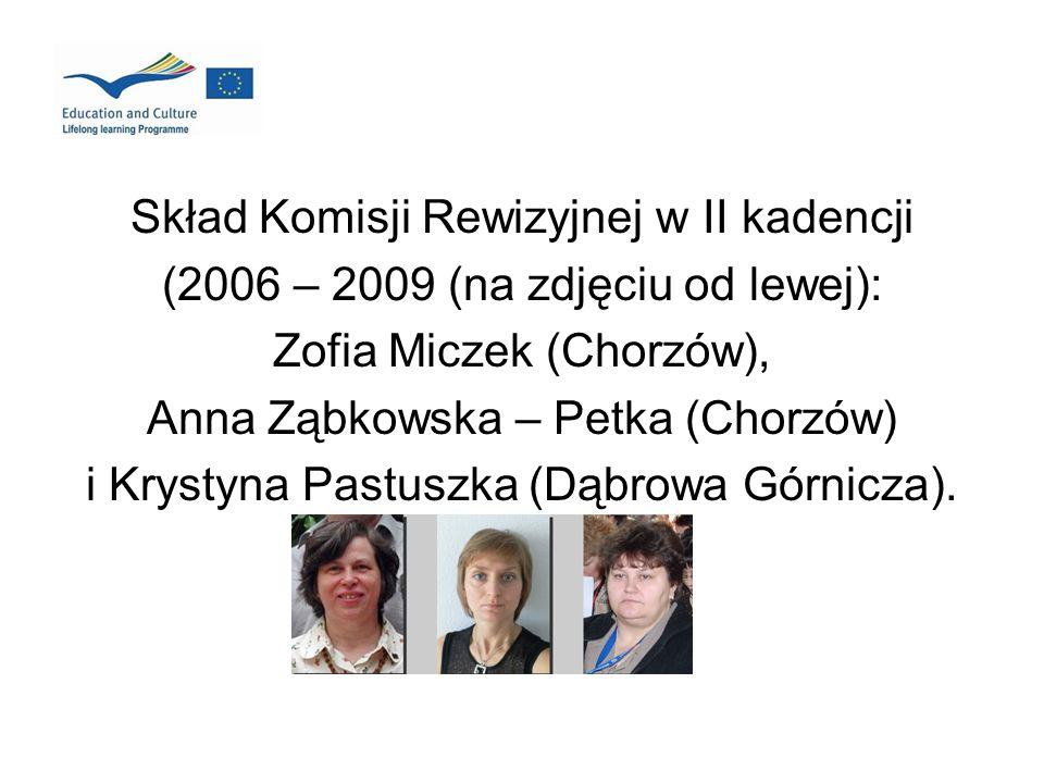 Skład Komisji Rewizyjnej w II kadencji (2006 – 2009 (na zdjęciu od lewej): Zofia Miczek (Chorzów), Anna Ząbkowska – Petka (Chorzów) i Krystyna Pastusz