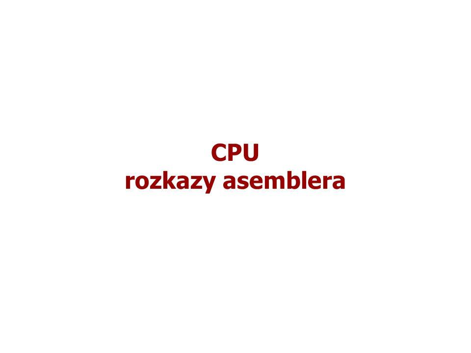 CPU rozkazy asemblera