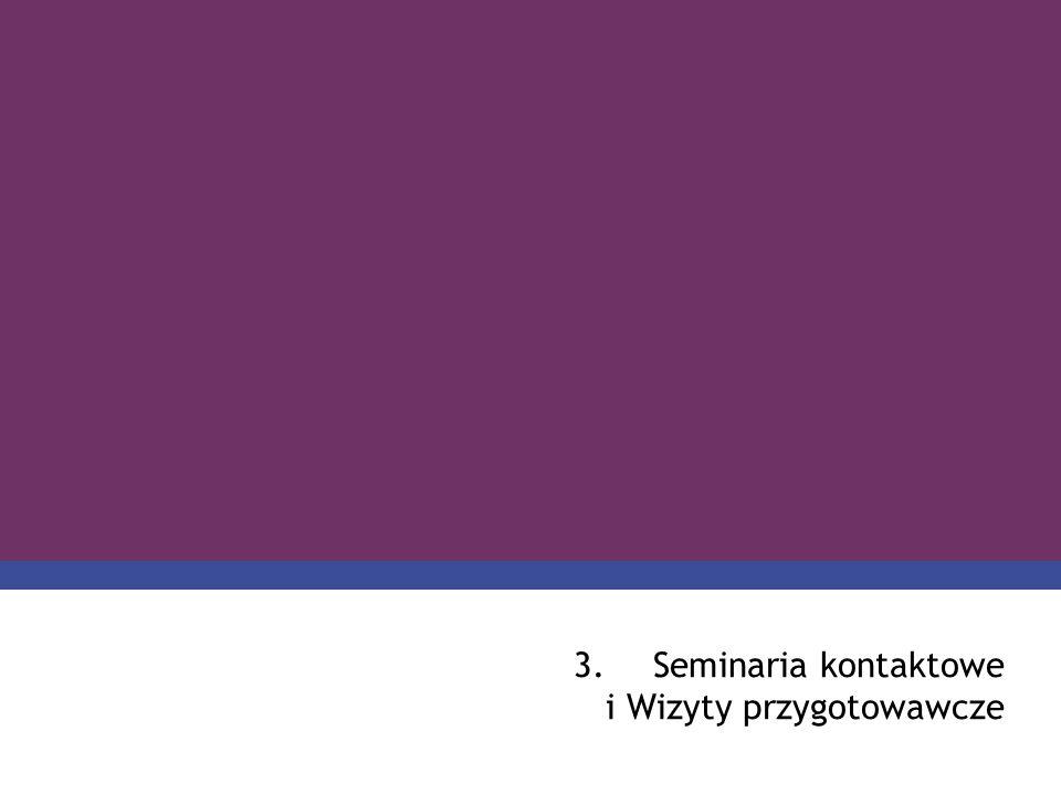 PROGRAM COMENIUS 3.Seminaria kontaktowe i Wizyty przygotowawcze