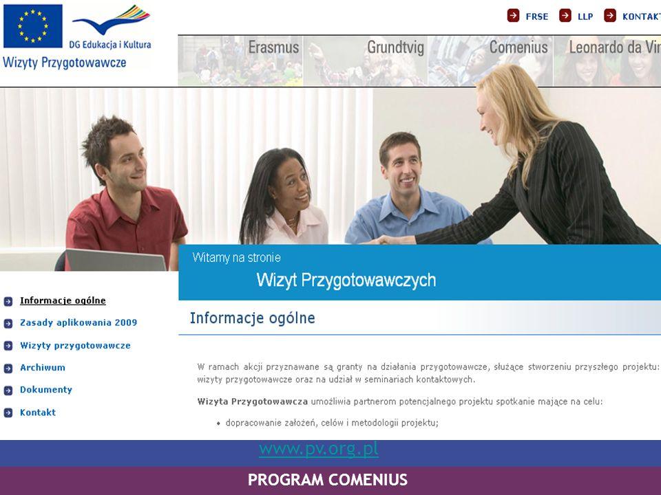 PROGRAM COMENIUS www.pv.org.pl