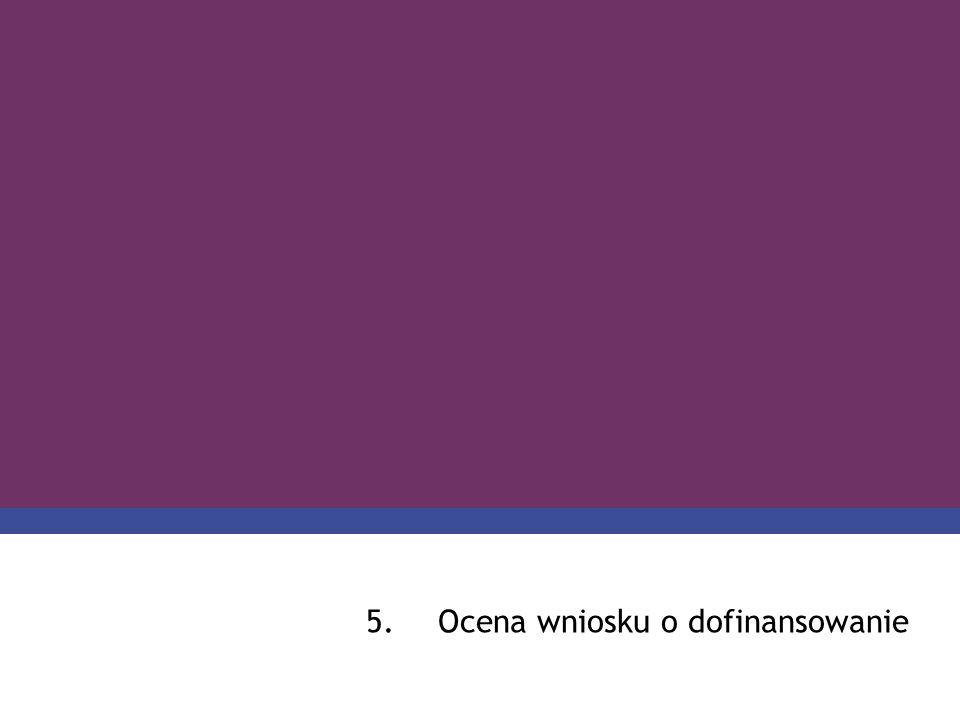 5.Ocena wniosku o dofinansowanie