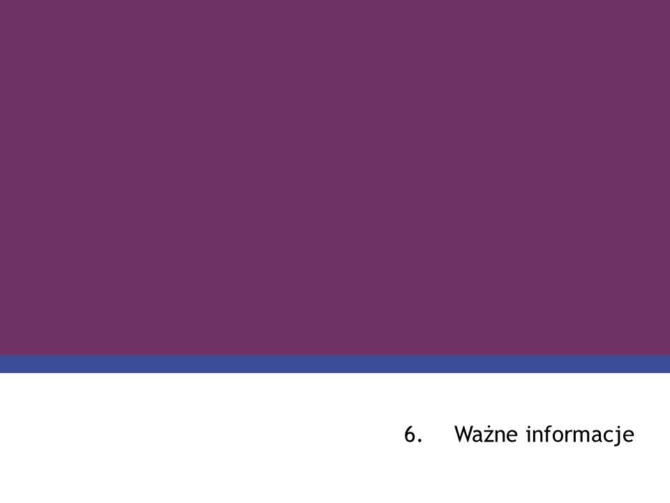 PROGRAM COMENIUS 6.Ważne informacje