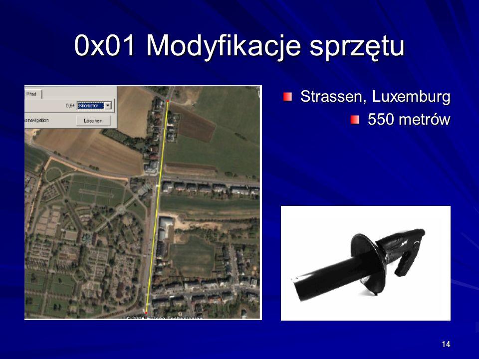 14 0x01 Modyfikacje sprzętu Strassen, Luxemburg 550 metrów