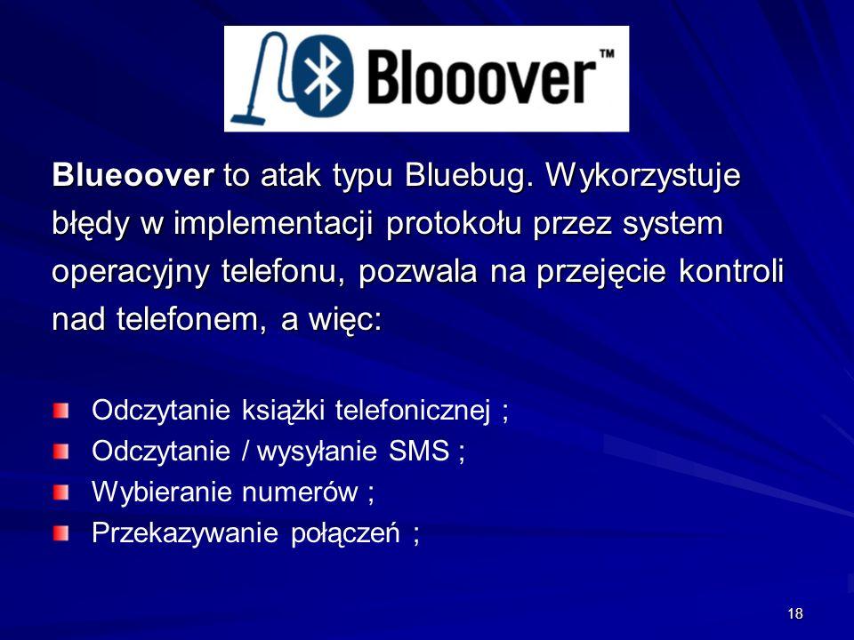 18 Blueoover to atak typu Bluebug.