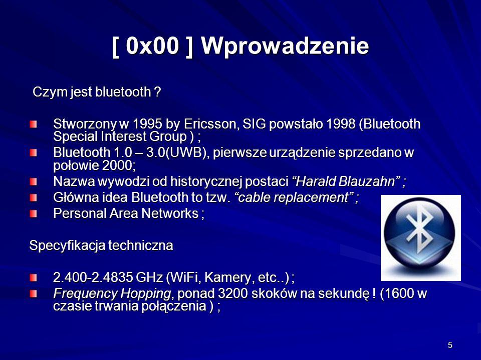 5 [ 0x00 ] Wprowadzenie Czym jest bluetooth .Czym jest bluetooth .