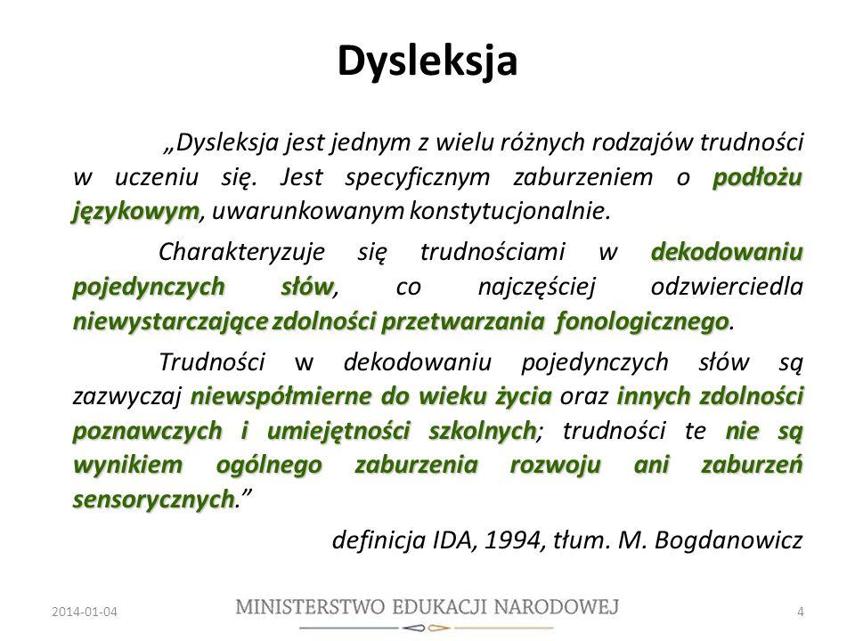 Dysleksja podłożu językowym Dysleksja jest jednym z wielu różnych rodzajów trudności w uczeniu się.