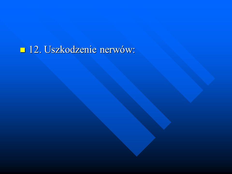 12. Uszkodzenie nerwów: 12. Uszkodzenie nerwów: