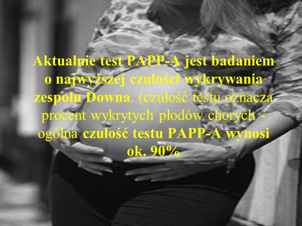 Test PAPP-A jest odpowiedni dla pacjentek w każdym wieku, ponieważ około 70% dzieci z Zespołem Downa rodzą kobiety przed 35 rokiem życia. Na podstawie