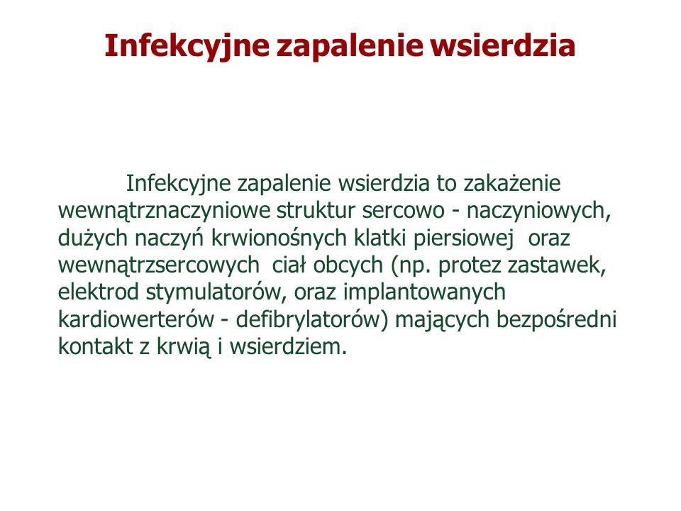 Potwierdzone IZW na podstawie obrazu klinicznego i echokardiogramu Posiewy krwi* ( ok.