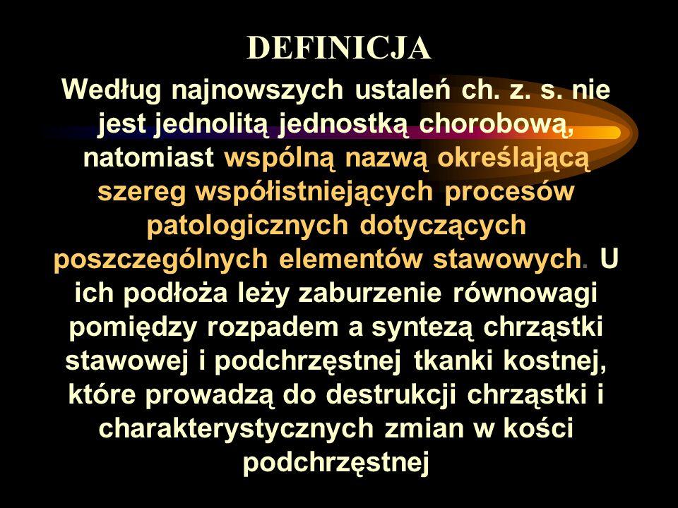 Według najnowszych ustaleń ch. z. s. nie jest jednolitą jednostką chorobową, natomiast wspólną nazwą określającą szereg współistniejących procesów pat