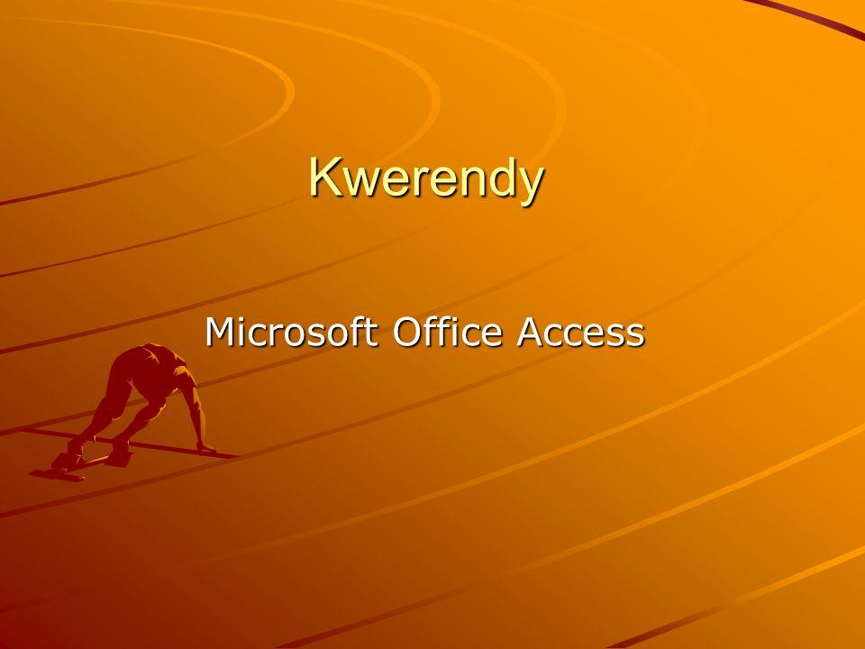 Co to jest Kwerenda.To obiekt bazy danych zawierających grupę rekordów po selekcji.