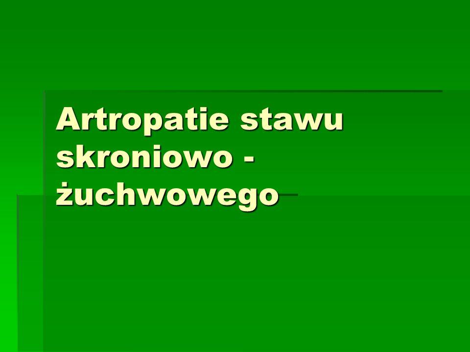 Artropatie stawu skroniowo - żuchwowego