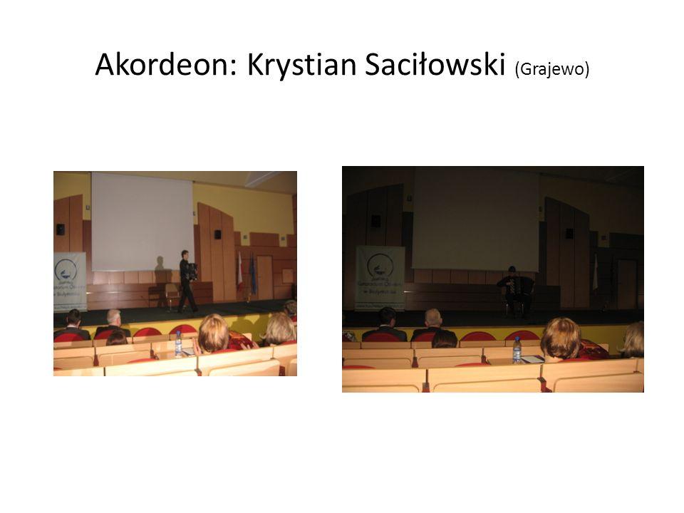 Duet akordeonowy: Szczepan Szubzdo i Kamil Dmochowski Akordeon: Jerzy Kozłowski