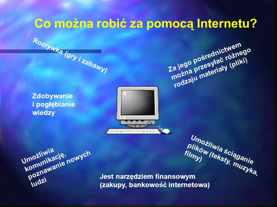 Co można robić za pomocą Internetu.
