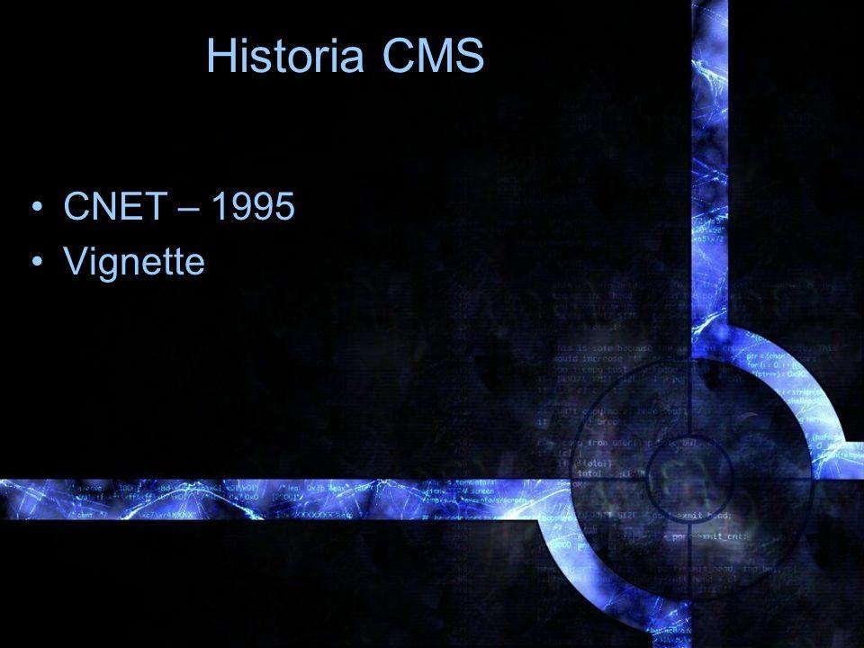 Historia CMS CNET – 1995 Vignette
