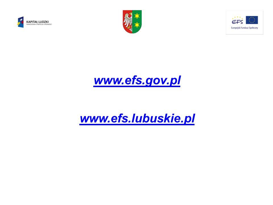 www.efs.gov.pl www.efs.lubuskie.pl