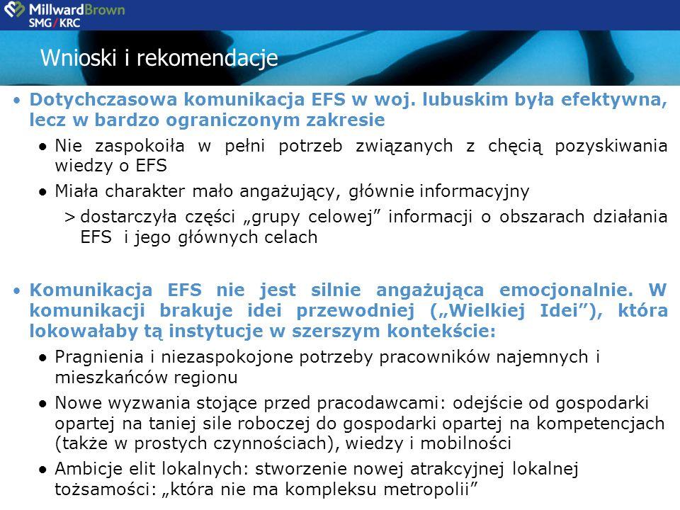 Dotychczasowa komunikacja EFS w woj.