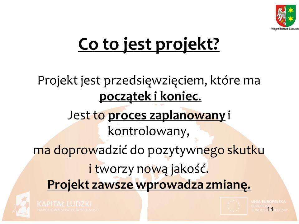 Co to jest projekt. Projekt jest przedsięwzięciem, które ma początek i koniec.