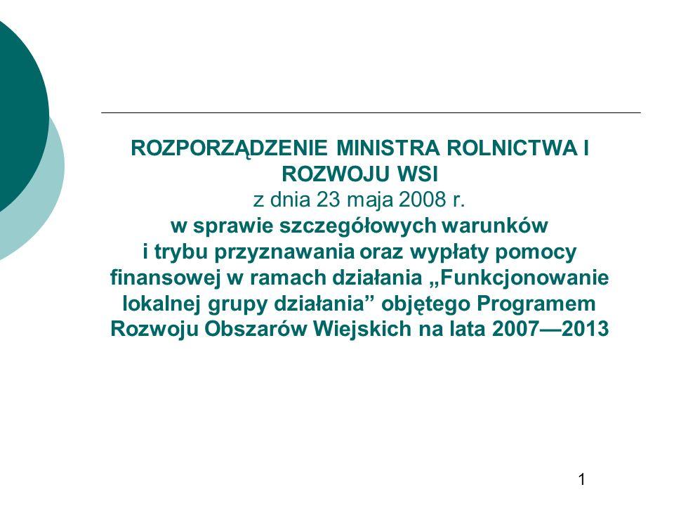 ROZPORZĄDZENIE MINISTRA ROLNICTWA I ROZWOJU WSI z dnia 23 maja 2008 r.