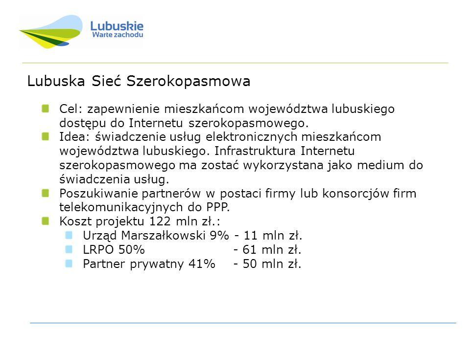 Cel: zapewnienie mieszkańcom województwa lubuskiego dostępu do Internetu szerokopasmowego.