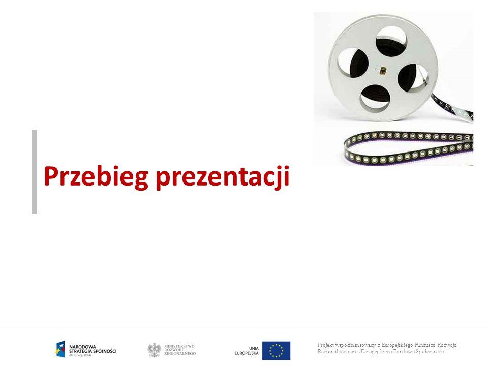 Projekt współfinansowany z Europejskiego Funduszu Rozwoju Regionalnego oraz Europejskiego Funduszu Społecznego Przebieg prezentacji