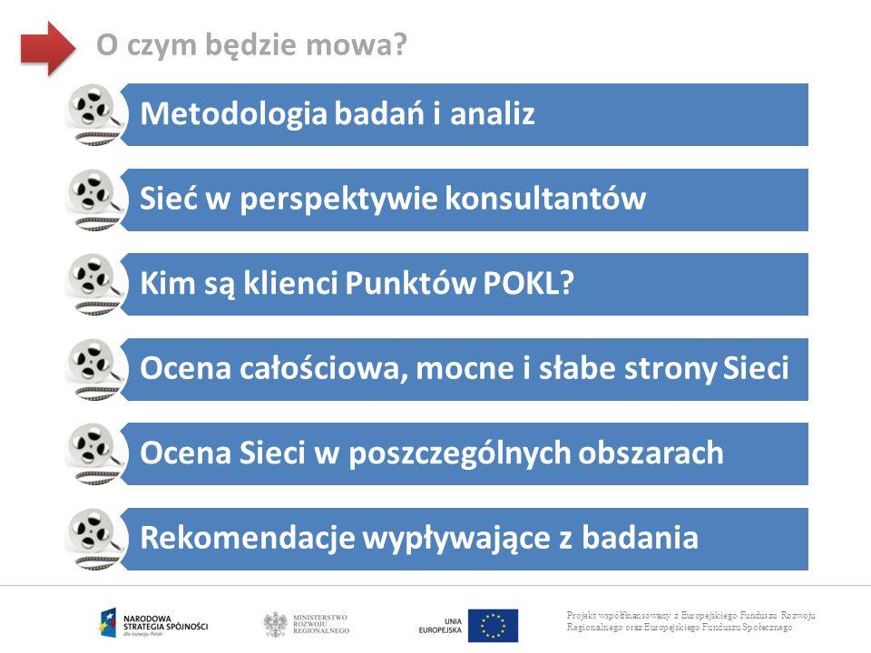 Projekt współfinansowany z Europejskiego Funduszu Rozwoju Regionalnego oraz Europejskiego Funduszu Społecznego O czym będzie mowa? Metodologia badań i