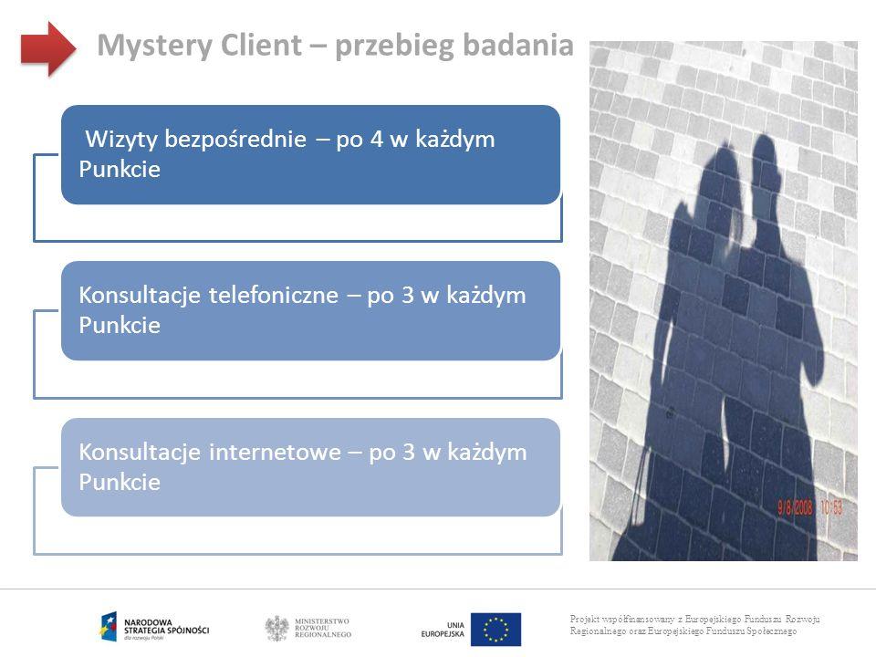 Projekt współfinansowany z Europejskiego Funduszu Rozwoju Regionalnego oraz Europejskiego Funduszu Społecznego Wizyty bezpośrednie – po 4 w każdym Pun
