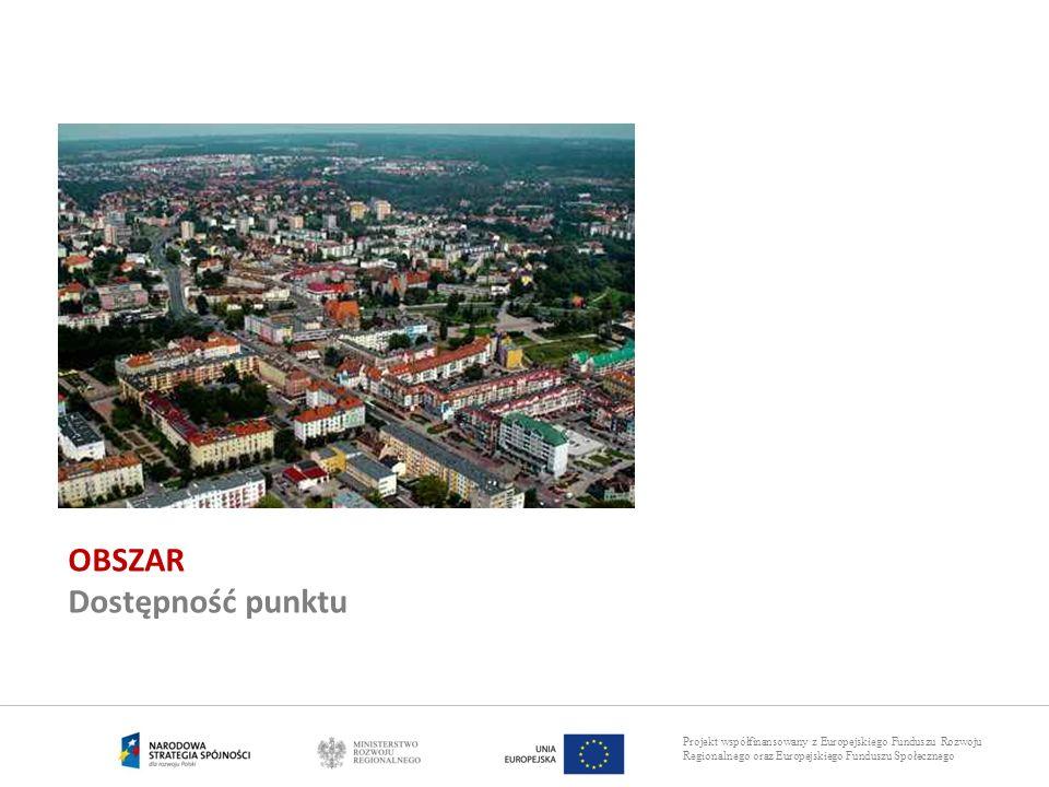 Projekt współfinansowany z Europejskiego Funduszu Rozwoju Regionalnego oraz Europejskiego Funduszu Społecznego OBSZAR Dostępność punktu