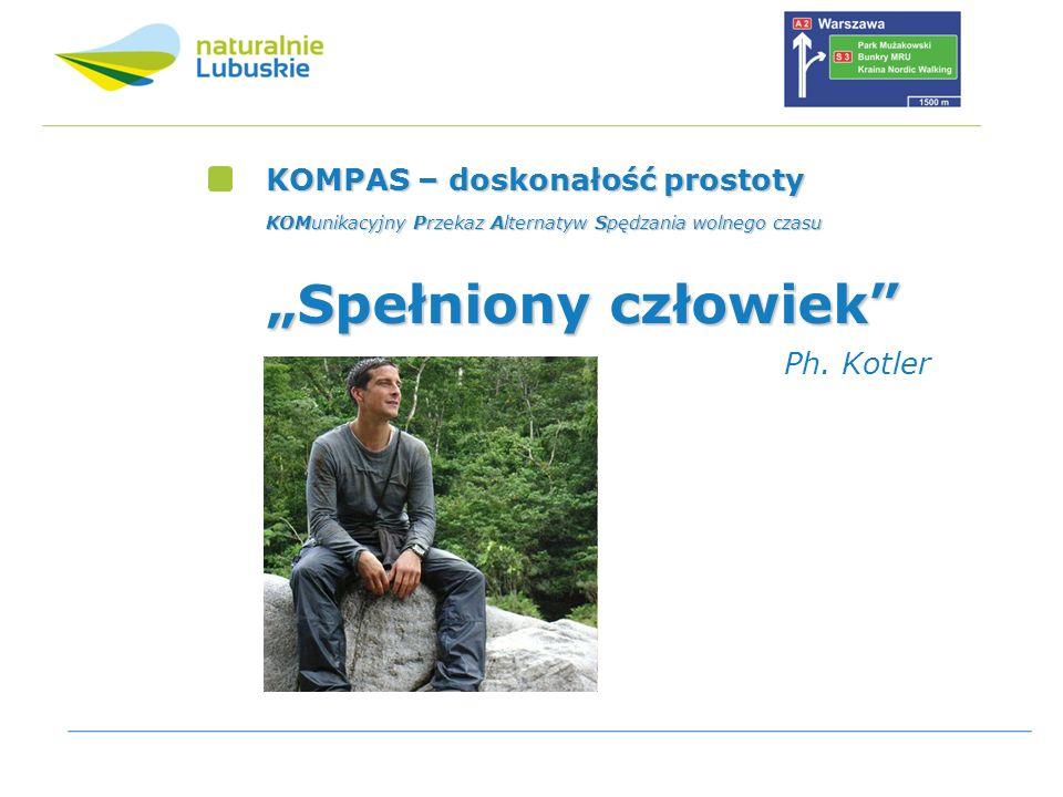 KOMPAS – doskonałość prostoty KOMunikacyjny Przekaz Alternatyw Spędzania wolnego czasu Spełniony człowiek Ph. Kotler