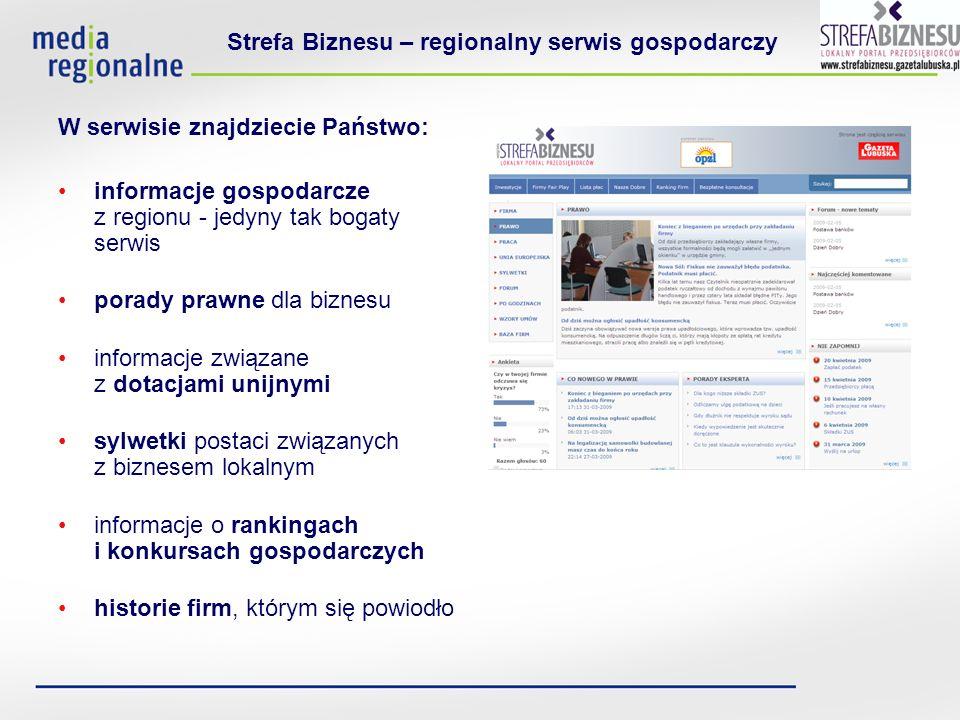 Strefa Biznesu – regionalny serwis gospodarczy Jak możecie Państwo wykorzystać Strefę w swojej działalności.