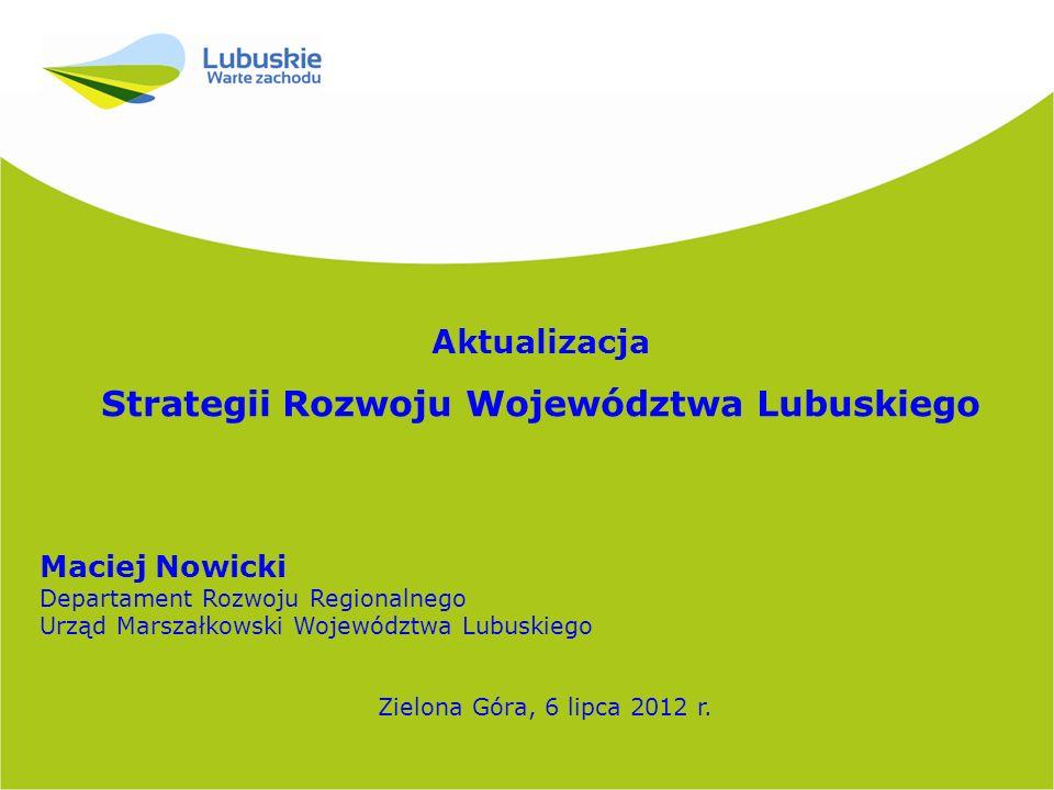 2 Podsumowanie prac w 2012 roku 17 stycznia – I projekt SRWL 2020 18 stycznia - 22 lutego – konsultacje społeczne projektu SRWL 2020 (ustawa o zasadach prowadzenia polityki rozwoju) 2 maja – Zarząd zatwierdza kluczowe inwestycje o charakterze regionalnym 12 czerwca – II projekt SRWL 2020 i projekt Prognozy oddziaływania SRWL na środowisko 29 czerwca - 20 lipca – konsultacje społeczne projektu SRWL 2020 z prognozą oddziaływania na środowisko (ustawa o udostępnianiu informacji o środowisku i jego ochronie, udziale społeczeństwa w ochronie środowiska oraz o ocenach oddziaływania na środowisko) 19 czerwca – ekspertyza projektu SRWL 2020 Aktualizacja Strategii Rozwoju Województwa Lubuskiego