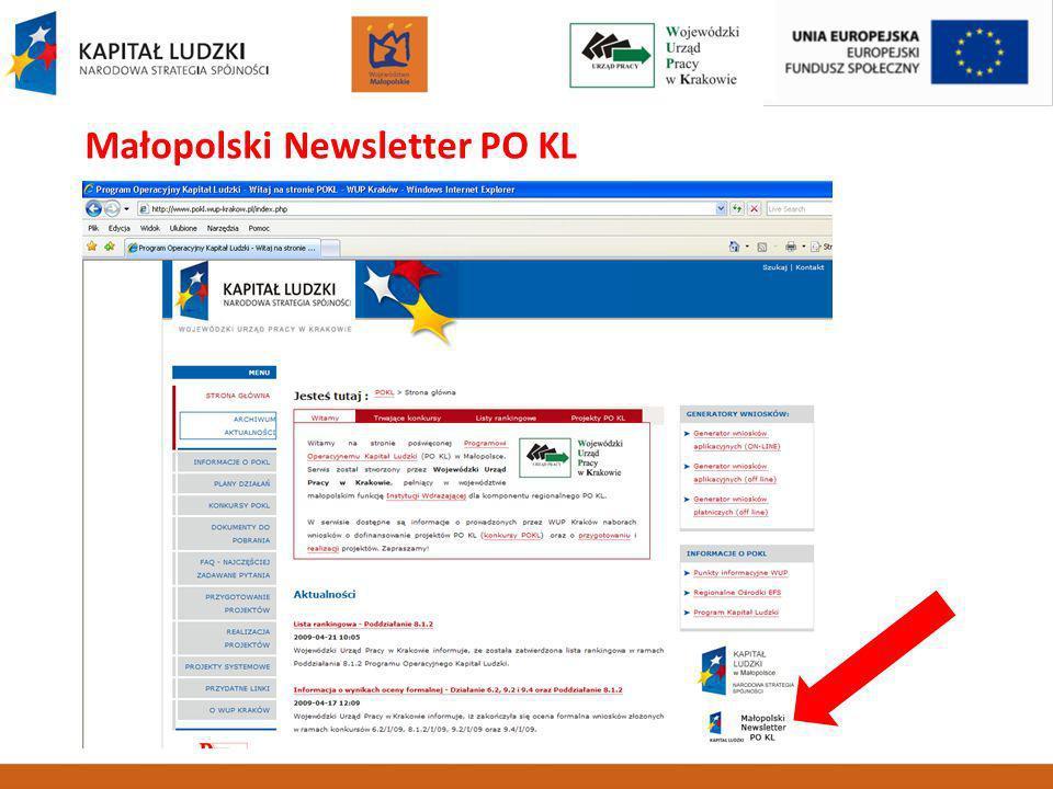 Małopolski Newsletter PO KL