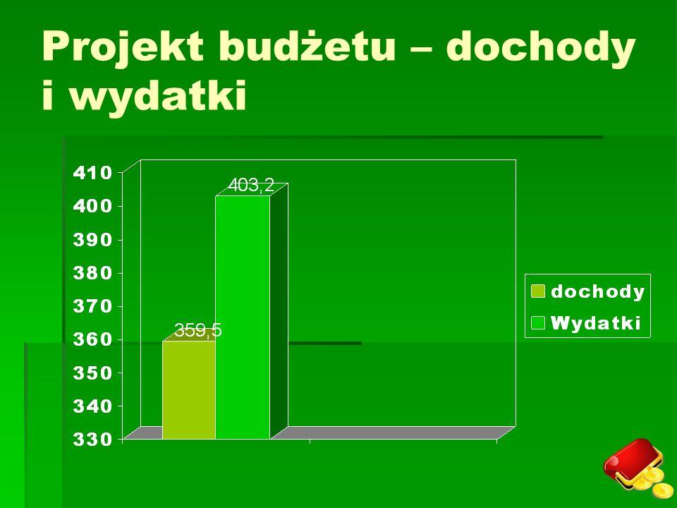 Projekt budżetu – dochody i wydatki