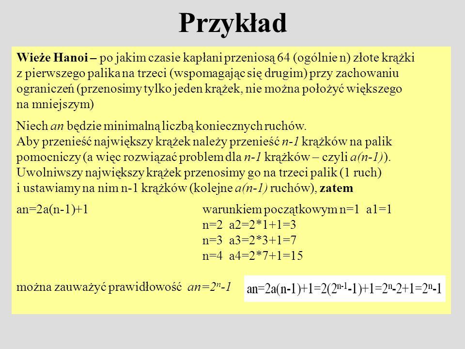 Przykład Przykład 1 Ile jest permutacji n-elementowych n.