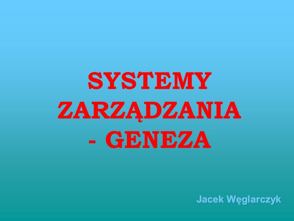 SYSTEMY ZARZĄDZANIA - GENEZA