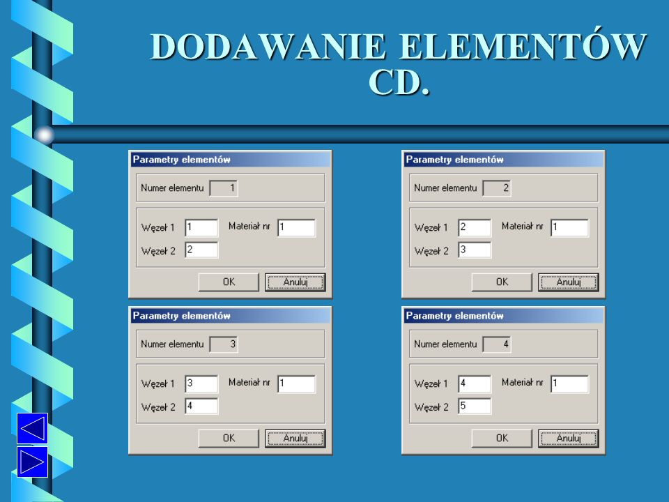 DODAWANIE ELEMENTÓW CD. DODAWANIE ELEMENTÓW CD.