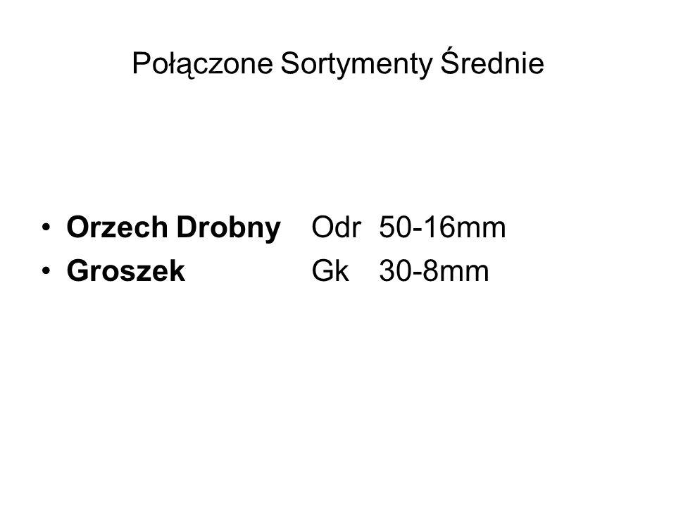 Połączone Sortymenty Średnie Orzech Drobny Odr50-16mm GroszekGk30-8mm