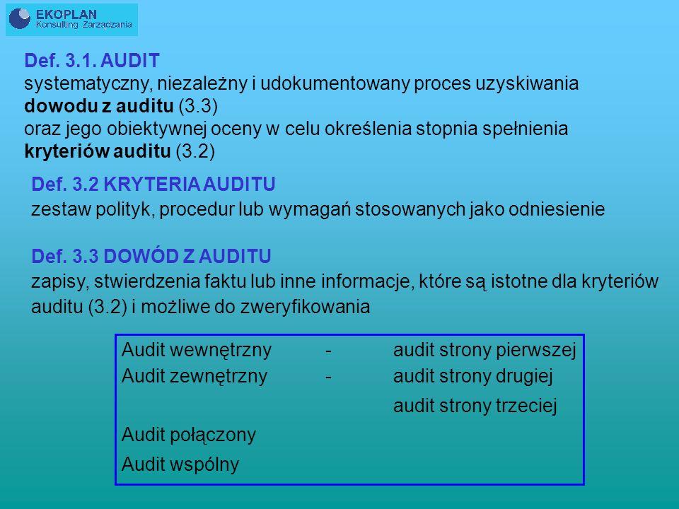 NORMA ISO 19011 Wytyczne do auditowania QMS i/lub EMS Wytyczne dotyczące prowadzenia zewnętrznych i wewnętrznych auditów zarządzania jakością i/lub sy