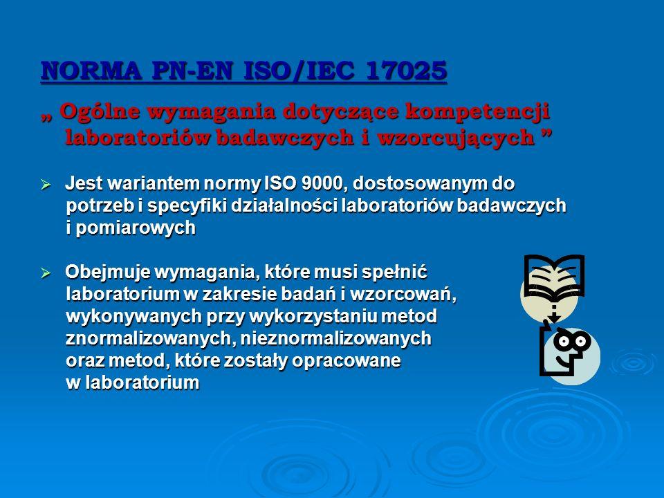 UWAGA !!! Istnieje praktyczna metoda zapewnienia jakości badań i pomiarów, którą jest badanie biegłości czyli ustalenie stopnia zgodności między uzysk