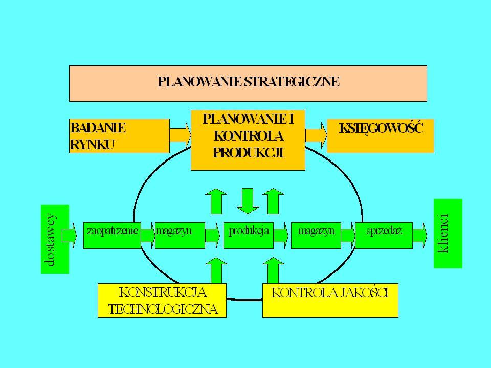 Struktura organizacyjna przedsiębiorstwa (zależności kompetencyjne jednostek organizacyjnych)