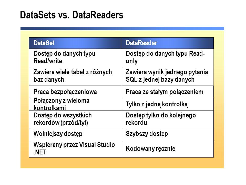 DataSets vs.