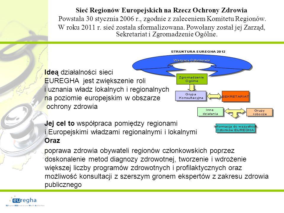 Sieć Regionów Europejskich na Rzecz Ochrony Zdrowia Powstała 30 stycznia 2006 r., zgodnie z zaleceniem Komitetu Regionów.