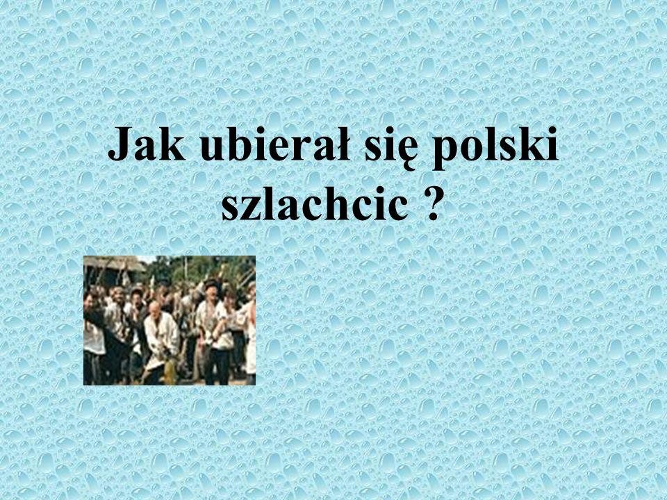 Jak ubierał się polski szlachcic ?
