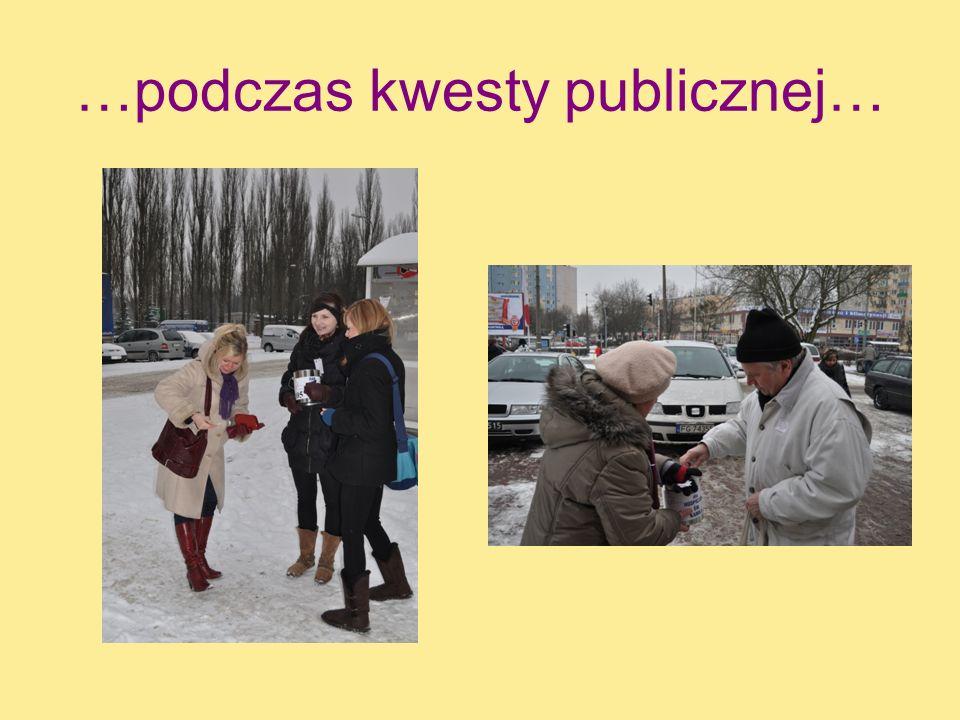 …podczas kwesty publicznej…