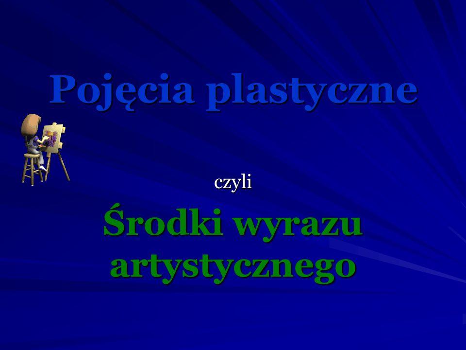 Elementy jakimi twórcy posługują w sztukach plastycznych to min.: linia, kreska, kolor, plama, kompozycja, perspektywa, tonacja kolorów (walor).