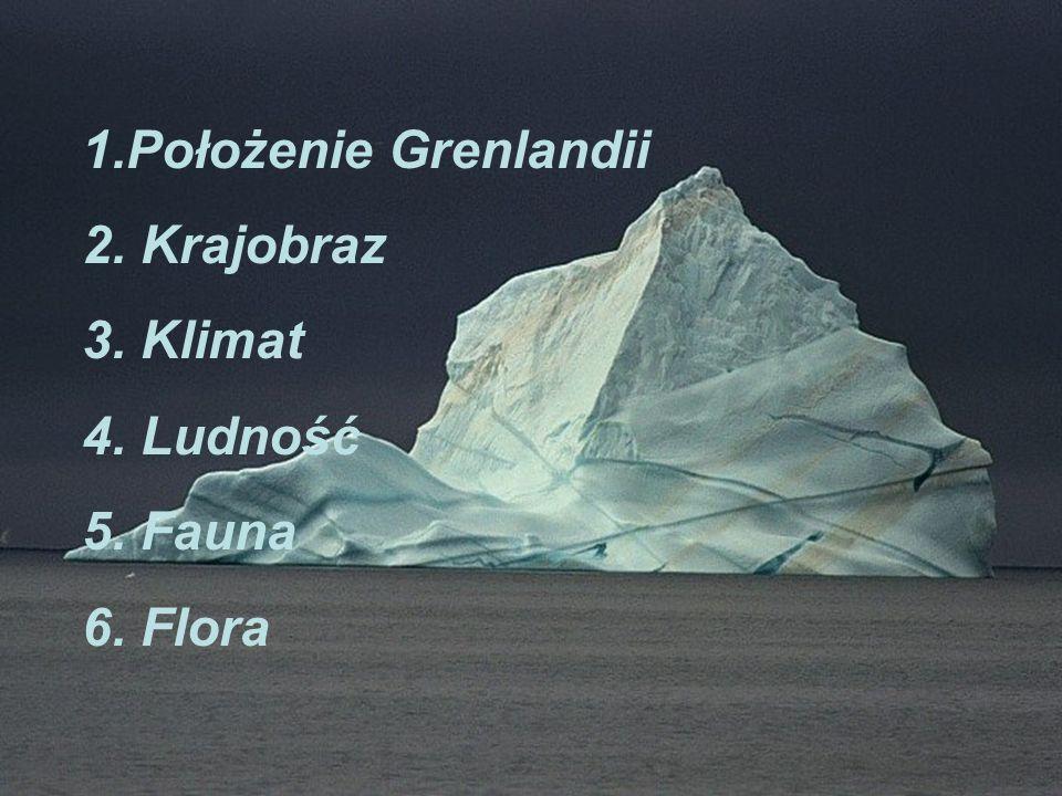 LUDNOŚĆ Około 90% mieszkańców Grenlandii zamieszkuje w południowo zachodniej części kraju, gdzie warunki klimatyczne są najkorzystniejsze.