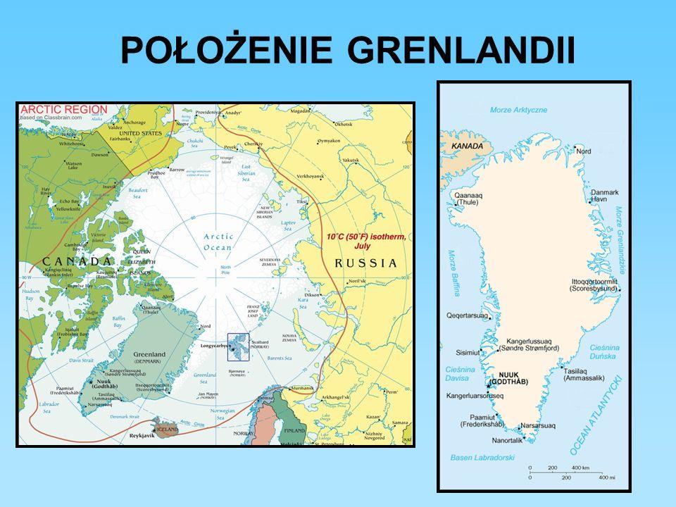 Położenie Grenlandii na tle innych kontynentów