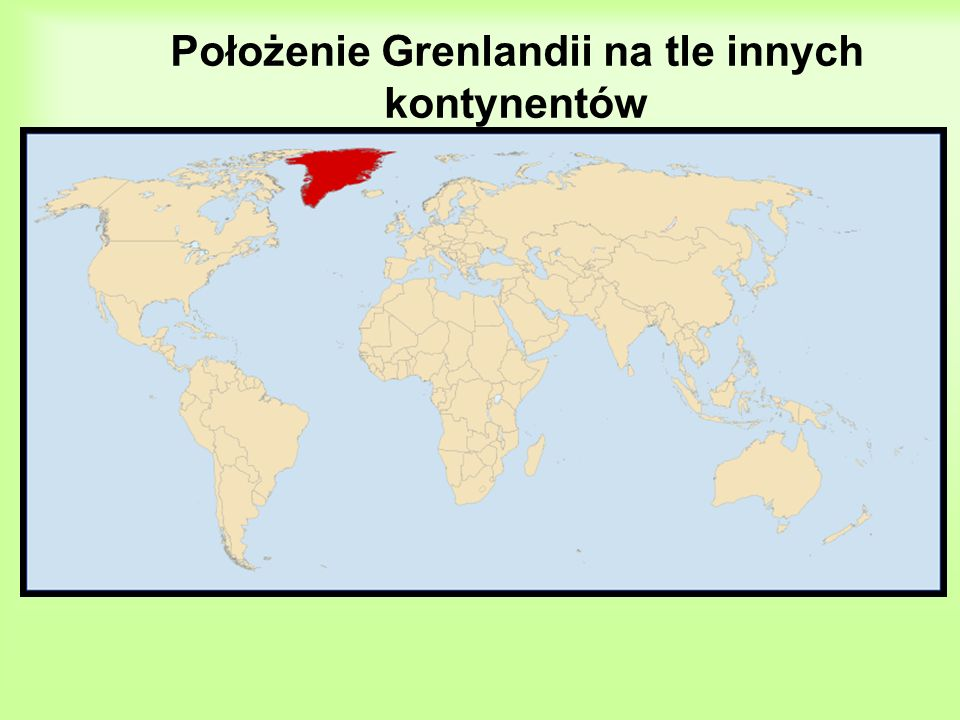 Krajobraz Grenlandia to kraina lodów i śniegu.
