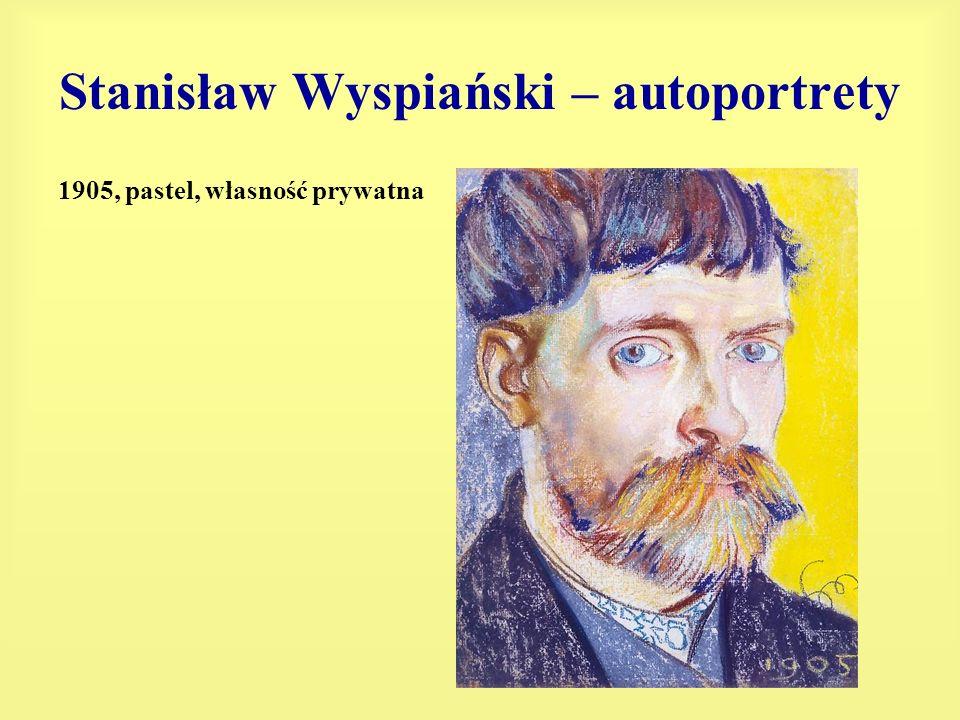 Stanisław Wyspiański – autoportrety 1905, pastel, własność prywatna